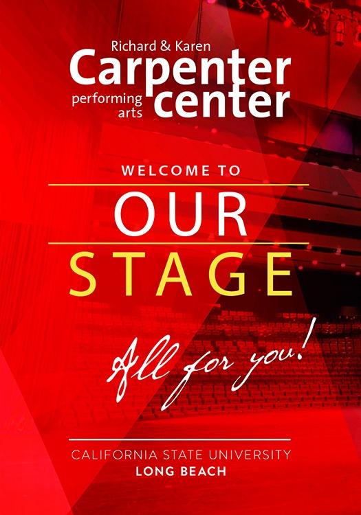2020 Brochure cover showing interior of the Carpenter Center theatre