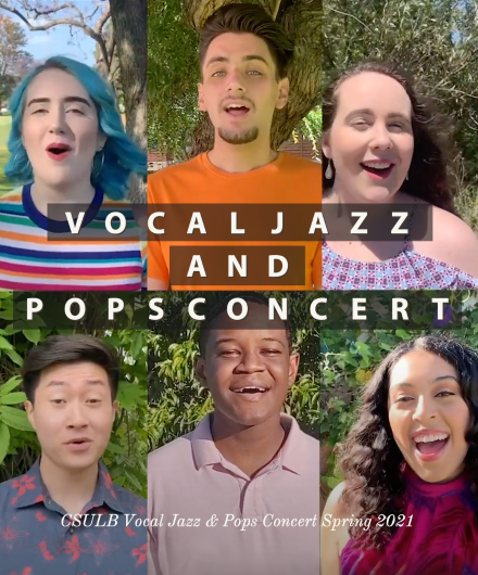 Composite image of student vocalists from the Bob Cole Conservatory of Music